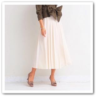 スカートのようなプリーツワイドパンツ